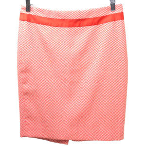 The Limited Orange Chevron Skirt Size 6